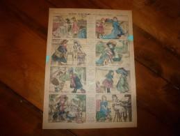 """Vers 1900    Imagerie  Pellerin  On Joue """"A LA DAME"""" Avec Les Affaires Des Mamans    Imagerie D'Epinal  N° 3133 - Vieux Papiers"""