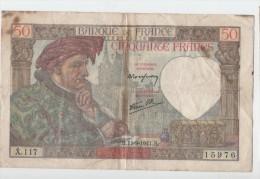 50 FRS JACQUES COEUR.11.9.1941 - 1871-1952 Anciens Francs Circulés Au XXème