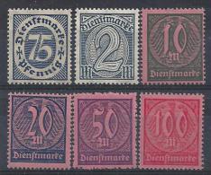 Germany 1922 Dienstmarken  (**)  MNH  Mi.69-74 - Officials