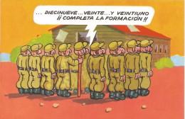 D1159 - POSTAL - SOLDADOS EN FORMACION - Postales