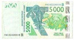 BENIN   (DAHOMEY)      5 000 FRANCS      2004      P. 217Bb      (voir 2 Scans) - West-Afrikaanse Staten