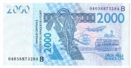 BENIN   (DAHOMEY)      2 000 FRANCS      2004      P. 216Bb      (voir 2 Scans) - West-Afrikaanse Staten