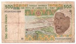 NIGER      500 FRANCS      2002      P. 610Hm            (voir 2 Scans) - West-Afrikaanse Staten