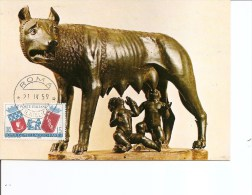 Italie -Louve Romaine -Romulus Et Remus ( CM De 1959 à Voir) - Cartoline Maximum