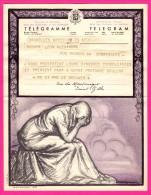 Télégramme-Chromo - 1952 - ROYAUME De BELGIQUE - Format 20 X 25cm - JEAN DONNAY - Bruxelles - Bruxelles Dailly - Stamped Stationery
