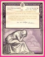 Télégramme-Chromo - 1952 - ROYAUME De BELGIQUE - Format 20 X 25cm - JEAN DONNAY - Charleroi - Schaerbeek - Stamped Stationery