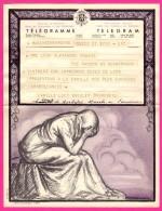 Télégramme-Chromo - 1952 - ROYAUME De BELGIQUE - Format 20 X 25cm - JEAN DONNAY - Marche En Famenne - Bruxelles - Stamped Stationery