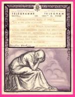 Télégramme-Chromo - 1952 - ROYAUME De BELGIQUE - Format 20 X 25cm - JEAN DONNAY - Marche En Famenne - Bruxelles Dailly - Stamped Stationery