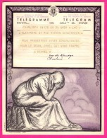Télégramme-Chromo - 1952 - ROYAUME De BELGIQUE - Format 20 X 25cm - JEAN DONNAY - Charleroi - Bruxelles Dailly - Stamped Stationery