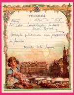 Télégramme Illustré - Royaume De Belgique - Régie Des Télégraphes Et Téléphones - Menen 1952- SENTREIG ? - Fleurs - Stamped Stationery