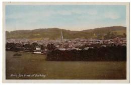 Birds Eye View Of Dorking By Woolstone Bros Unused Circa 1910 - Surrey
