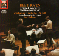 * LP *  BEETHOVEN - TRIPELKONZERT - GEWANDHAUSORCHESTER LEIPZIG / KURT MASUR (Germany 1985 EX-!!!) - Klassiekers