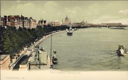 1930circa-Gran Bretagna Cartolina Non Spedita The Thames Embankment - Unclassified