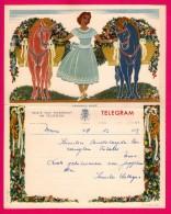 Télégramme Illustré - Royaume De Belgique - Régie Des Télégraphes Et Téléphones - Menen 1952 - JUL & NINA LEFEVRE - Stamped Stationery