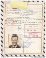 T1325 CARTE ACCES AU PORT ORAN 1964 1965 CIE GLE TRANSATLANTIQUE - Unclassified
