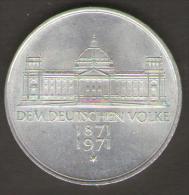 GERMANIA 5 MARCHI 1971 DEM DEUTSCHEN VOLKE AG SILVER - [ 7] 1949-… : RFA - Rep. Fed. Tedesca
