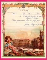 Télégramme Illustré - Royaume De Belgique - Régie Des Télégraphes Et Téléphones - Menen 1952 - SENTREIG ? - Fleurs - Stamped Stationery