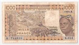SENEGAL       1000 FRANCS      1986    P. 707Kg           (voir 2 Scans) - West-Afrikaanse Staten