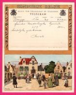Télégramme Illustré - Royaume De Belgique - Régie Des Télégraphes Et Téléphones - Menen 1952 -  AM. LYNEN - Mariés - Stamped Stationery