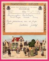 Télégramme Illustré - Royaume De Belgique - Régie Des Télégraphes Et Téléphones - Menen 1952 -  AM. LYNEN - Mariés - Entiers Postaux
