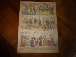 Vers 1900   Imagerie   Pellerin     MADEMOISELLE TRALALA   (Oh, Là, Là ! ,....Pouha ! )       Imagerie D'Epinal  N° 343 - Verzamelingen