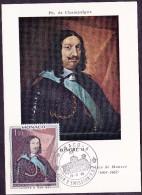 Monaco - Carte Maximum - Honoré II - Cartes-Maximum (CM)