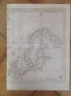 Moitié De Carte Marine Ancienne XVIIIè - Cercle Polaire Artique , Suede, Laponie, Finlande, Angleterre, Prusse... - Cartes Marines