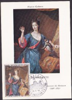 Monaco - Carte Maximum - Louise Hippolyte - Cartes-Maximum (CM)