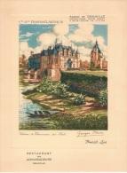 Deauville - Cie Gle Transatlantique - Restaurant Des Ambassadeurs - Carte Des Vins - Menu