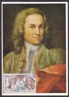 Monaco - Carte Maximum - Jean Sébastien Bach - Cartes-Maximum (CM)