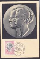Monaco - Carte Maximum - Prince Et Princesse - Cartes-Maximum (CM)