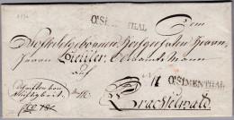 Heimat BE Ob.SIMENTHAL 1826-01-03 Thalschaftstempel Nach Thachselwald - Suisse