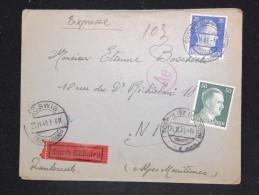 ALLEMAGNE - Enveloppe En Express De Dresden Pour La France En 1943 Avec Controle Postal- A Voir - Lot P12505 - Allemagne