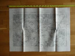 CARTE GEOGRAPHIQUE  MILITAIRE  PARIS N° 48 TYPE 1889 REVISEE 1901 SERVICE GEOGRAPHIQUE DE L ARMEE - Geographische Kaarten