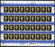 ESTONIA Estland 2015 Stamp – First Postage Stamp 175 Anniversary Black Penny MNH Stamp Sheet Of 10 - 1840-1901 (Victoria)