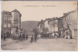 LES VANS : PLACE HENRI-THIBON - PHOTO BRUNEL ALES - 2 SCANS - - Les Vans