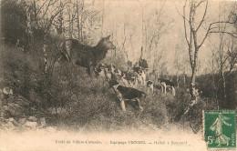FORET De VILLERS  - COTTERETS,,,,   EQUIPAGE  MENIER ,,,,HALLALI  A  BONNEUIL,,,VOYAGE 1909,,,, TBE,,, - Escalade
