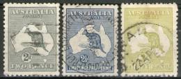 AUSTRALIE: N°3a+4a+5a (A) Oblitérés       - Cote 24€ - - Gebruikt