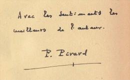 Tempête De Printemps Par Pierre Pirard, Dédicacé Par L'auteur (voir Scan) 248 Pages, 1941 - Autographed