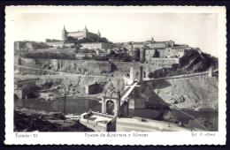 CP-PHOTO- ESPAGNE- TOLEDE- VUE SUR LE PONT ALCANTARA ET L'ALCAZAR- GROS PLAN- - Toledo