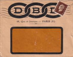 MARIANNE DULAC - N°692 2f BRUN - SEUL SUR LETTRE DE PARIS EN 1945 ENVELOPPE ILLUSTREE. - 1921-1960: Modern Period