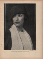 Eine Dame Der ägyptischen Gesellschaft - Druck, Entnommen Aus Velhagen Und Klasings- Monatsheften/ 1924 - Zeitungen & Zeitschriften