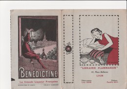 """COUVRE LIVRE """"LIBRAIRIE FLAMMARION """" LYON AVEC PUBLICITE BENEDICTINE - Livres, BD, Revues"""