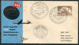 1954 Greenland Stromfjord SAS First Flight Cover - Briefe U. Dokumente