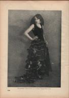 Vornehme Spanierin In Einem Tangokostüm-Druck, Entnommen Aus Velhagen Und Klasings- Monatsheften/ 1924 - Zeitungen & Zeitschriften