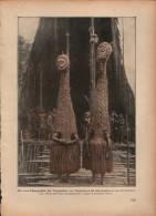 Tanzmasken Von Tabugeistern Bei Kopfjägern Auf Neuguinea-Druck, Entnommen Aus Velhagen Und Klasings- Monatsheften/ 1924 - Zeitungen & Zeitschriften
