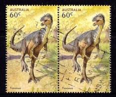 Australia 2013 Dinosaurs 60c Timimus Pair Used - 2010-... Elizabeth II