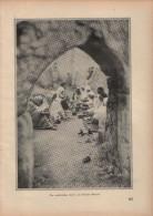 Ein Arabisches Cafe Auf Offener Straße - Druck, Entnommen Aus Velhagen Und Klasings- Monatsheften/ 1924 - Zeitungen & Zeitschriften