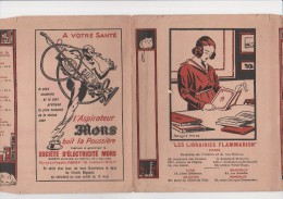 "COUVRE LIVRE ""LIBRAIRIE FLAMMARION "" PARIS- AVEC PUBLICITE ASPIRATEUR MORS - - Bücher, Zeitschriften, Comics"