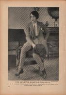 Ein Aparter Damenreitanzug - Druck, Entnommen Aus Velhagen Und Klasings- Monatsheften/ 1924 - Zeitungen & Zeitschriften